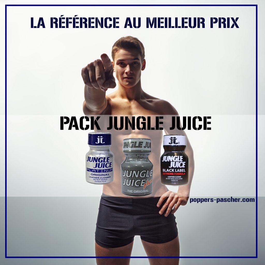 retrouver le pack de poppers jungle juice
