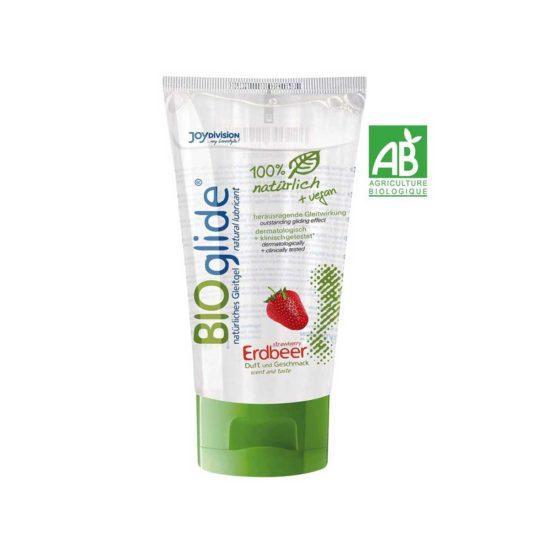 Bioglide a la fraise Des composants naturels, un plaisir naturel : un lubrifiant 100 % naturel et végan