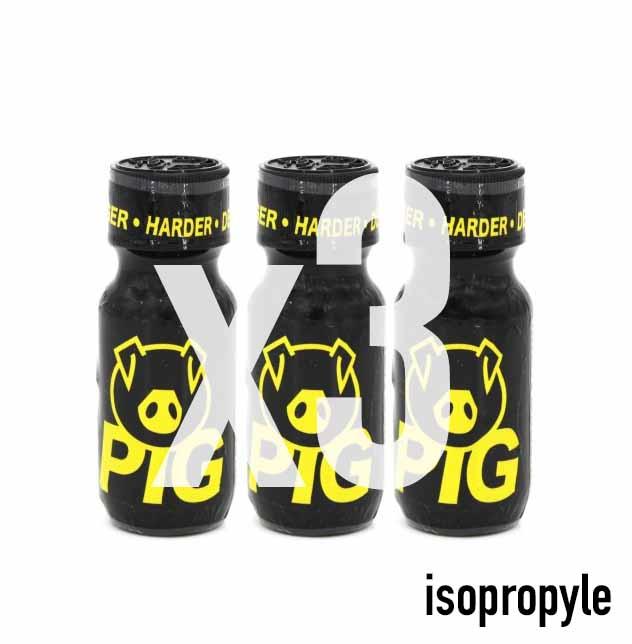 Le poppers anglais PIG, fabriqué en Angleterre.