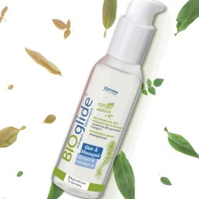 huile de massage bio de chez Bioglide, 100% naturel, idéal pour masser tout le corps mais aussi il est utiliser pour entant que gel intime