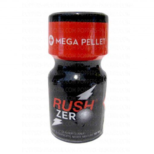 Flacon de poppers Rush avec bille en vente dans votre boutique de nitrite a base d'amyle