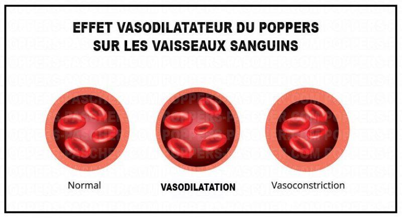 vasodilatation du poppers