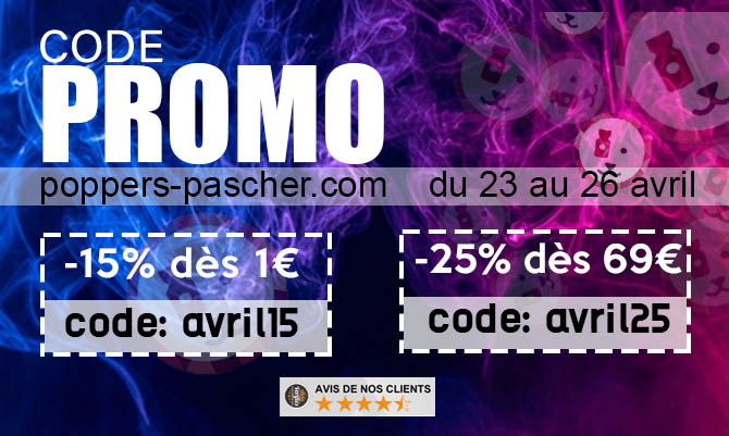code poppers pas cher