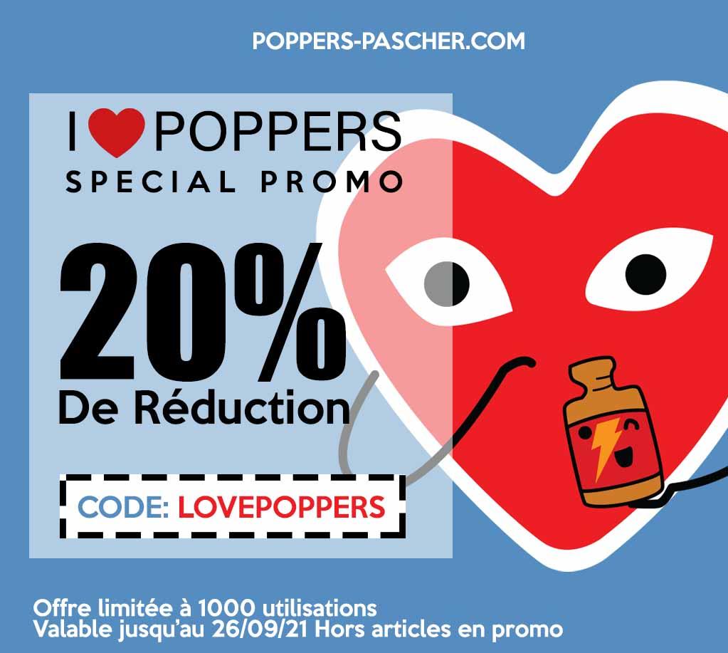 code promo pour poppers pas cher